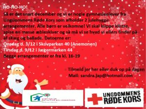 Ungdommens Røde Kors inviterer til Julehygge