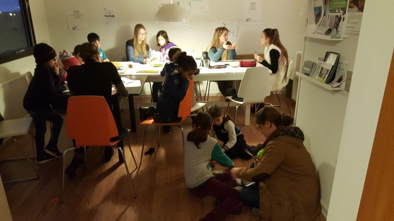Lektie-café for skolebørn
